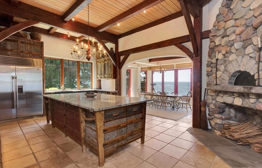 Pratt Island Custom Timber Frame Home g