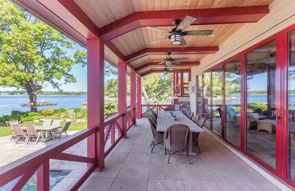 Pratt Island Custom Timber Frame Home p