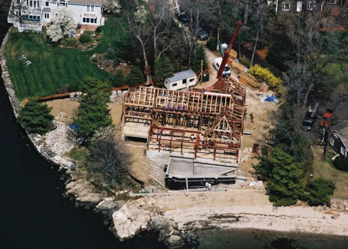 Pratt Island Custom Timber frame Home b
