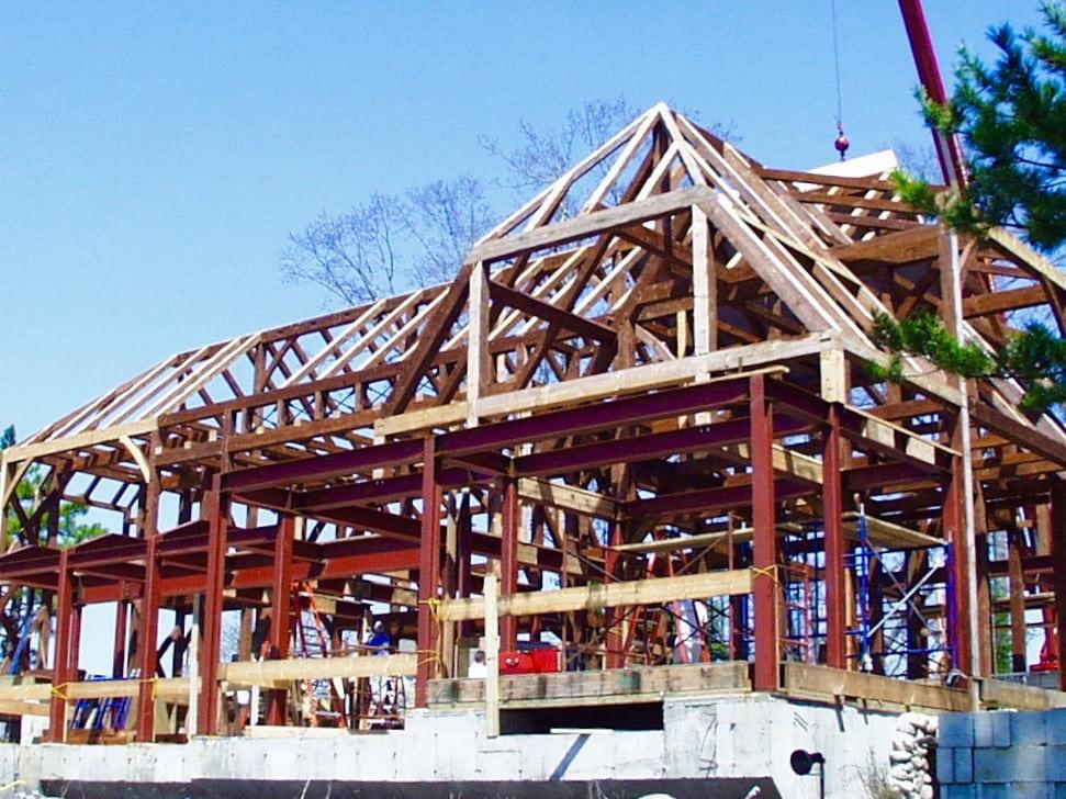 Pratt Island Custom Timber frame Home c