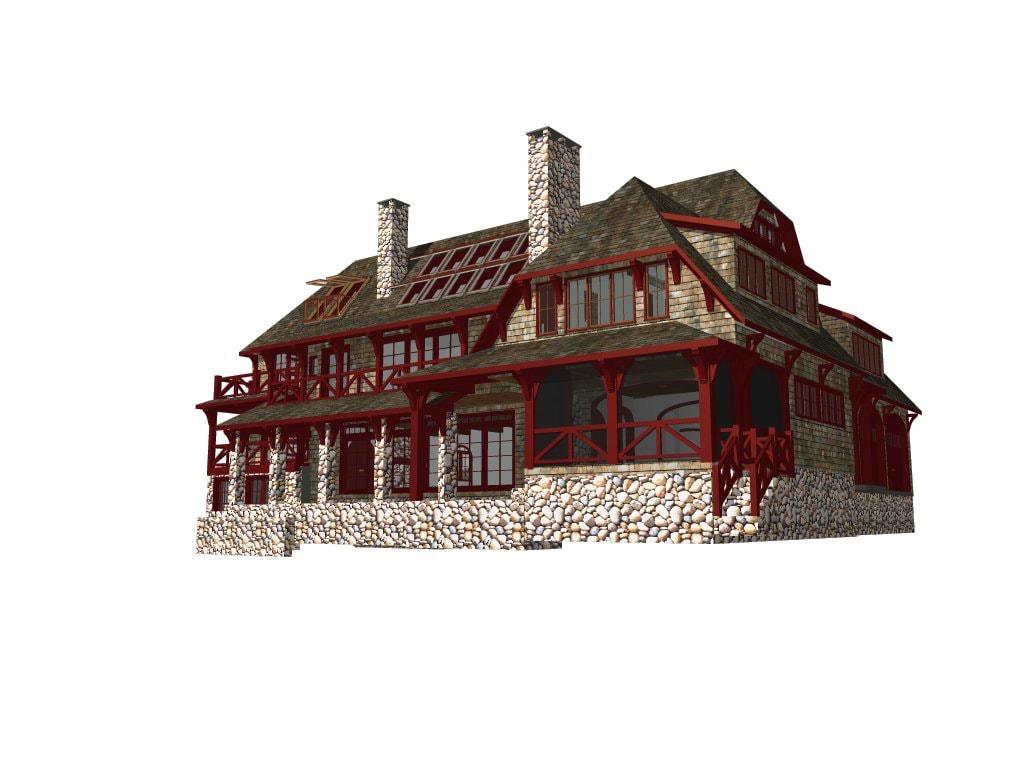 Pratt Island Custom Timber frame Home d
