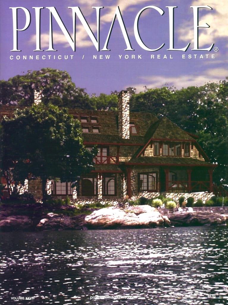 Pratt Island Pinnacle magazine Cover Timber Frame Home